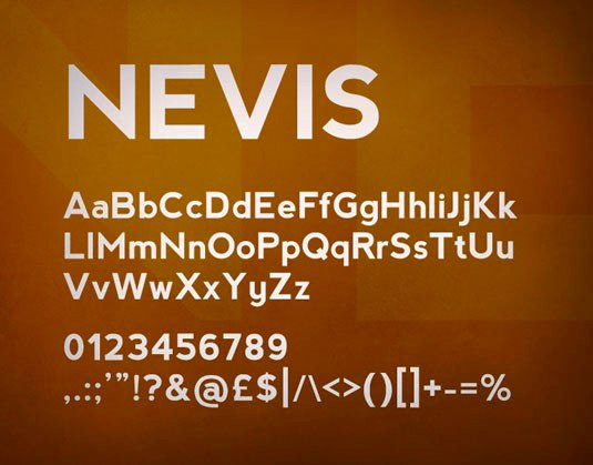 Download Free Font Gratis for Graphic Design and Web - Nevis-Free-Font
