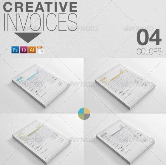 Contoh Invoice Desain Modern - Creative-Invoices