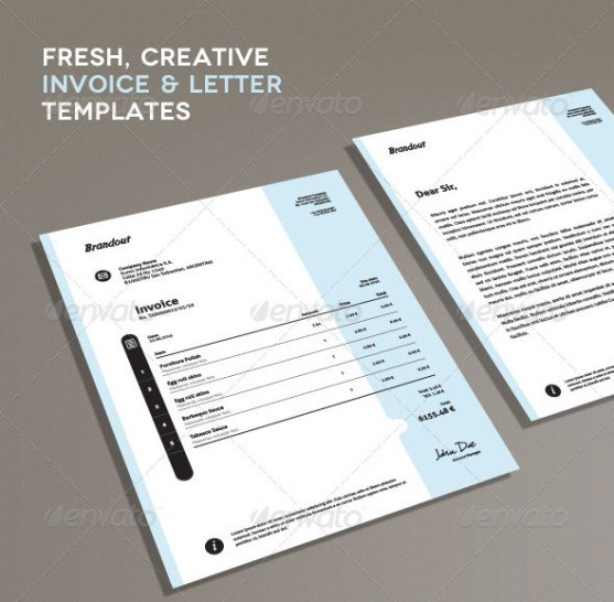 Contoh Invoice Desain Modern - Fresh-Creative-Invoice