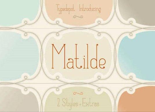 Font Cantik Free Download Gratis - Matilde