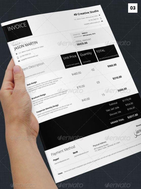 Contoh Invoice Desain Modern - Metro-Syle-Business-Invoice