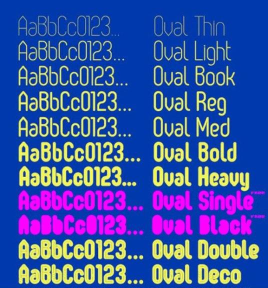 Font Cantik Free Download Gratis - Oval