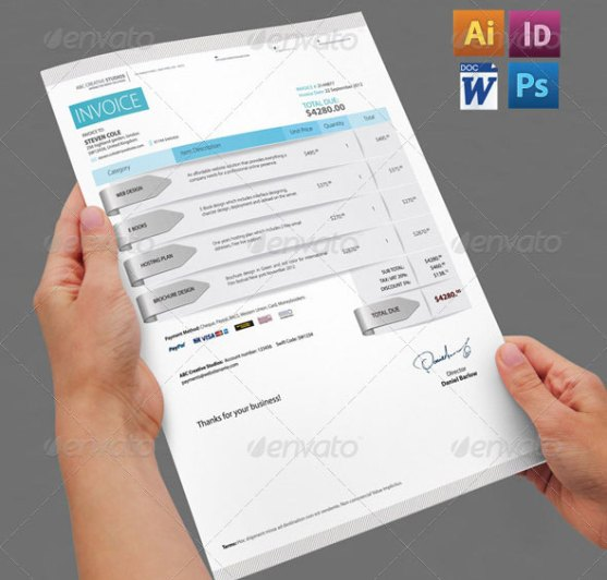 Contoh Invoice Desain Modern - Professional-Invoice-Pack
