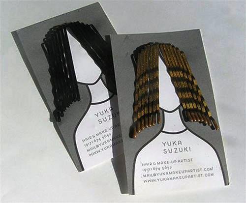 Contoh Desain Kartu Nama yang Unik - hair-style-business-card