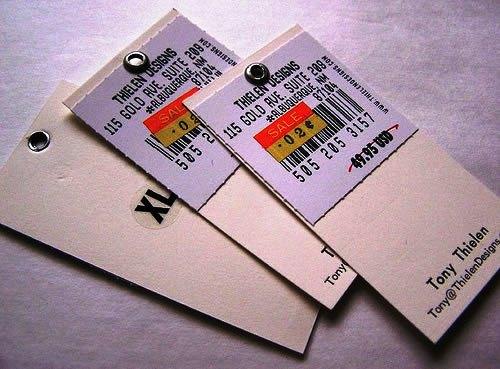Contoh Desain Kartu Nama yang Unik - label-like-business-card