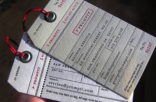 Contoh Desain Kartu Nama yang Unik - paper-printed-label-like-business-card