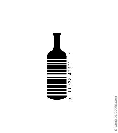 Desain Barcode Keren yang Unik - desain barcode unik kreatif vanitybarcodes - barcode seperti botol