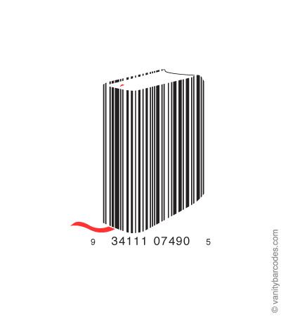 Desain Barcode Keren yang Unik - desain barcode unik kreatif vanitybarcodes - barcode seperti buku