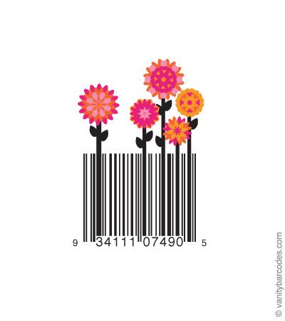 Desain Barcode Keren yang Unik - desain barcode unik kreatif vanitybarcodes - barcode seperti bunga