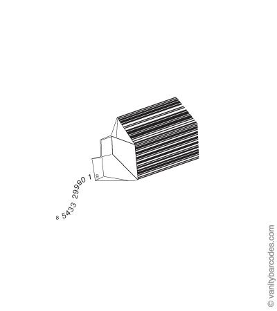 Desain Barcode Keren yang Unik - desain barcode unik kreatif vanitybarcodes - barcode seperti kotak susu