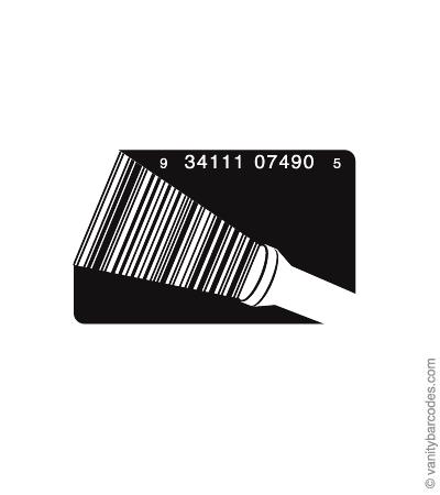 Desain Barcode Keren yang Unik - desain barcode unik kreatif vanitybarcodes - barcode seperti lampu senter