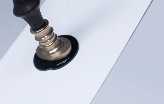 Desain stempel karet standar biasa