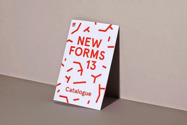 22 Disain Katalog Kreatif - Contoh desain katalog - New Forms Festival 13 oleh Post Projects Inc.