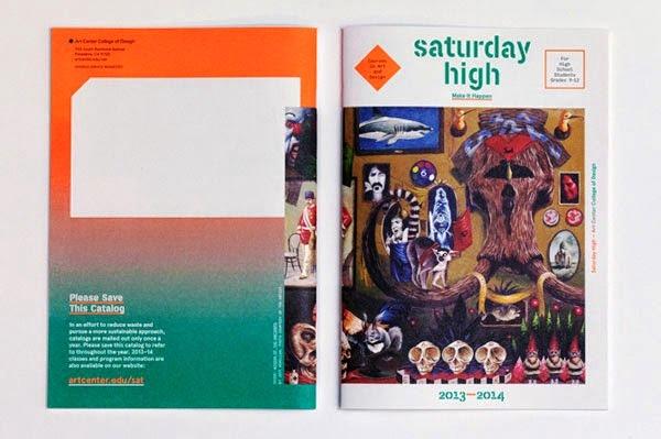 22 Disain Katalog Kreatif - Contoh desain katalog - Saturday High Catalog oleh Left Brain vs Right Brain Dominance