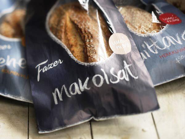 Contoh Desain Kemasan Roti Kue dan Biskuit - Kemasan Roti Biskuit dan Kue - Fazer Bakery