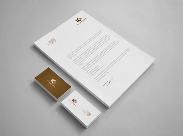 17 Kop Surat dengan Desain Elegan - El Khaled Trade - Kop Surat Desain Elegan