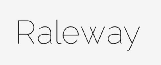 62 Font Unik untuk Desain Grafis - Font-Unik-Raleway