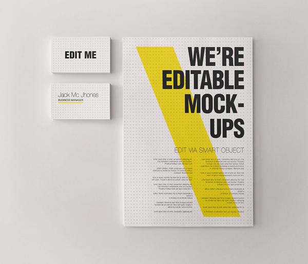 17 Kop Surat dengan Desain Elegan - Realistic Stationery Mockups V3 Corporate ID templates - Kop Surat Desain Elegan