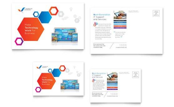 Template Desain Download Gratis - Template-Desain-Kartu-Pos-Download-Free-PDF