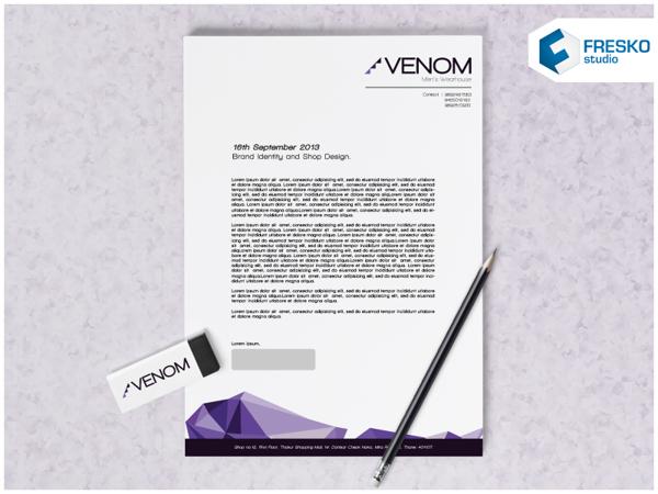 17 Kop Surat dengan Desain Elegan - Venom Brand Identity - Kop Surat Desain Elegan