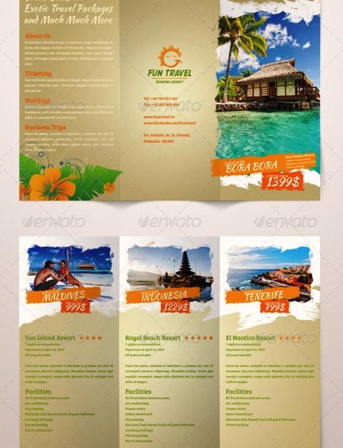 25 Contoh Desain Brosur Tour Dan Travel Terbaik - Brosur-Tour-dan-Travel-Fun-Travel-Tri-fold-Brochure