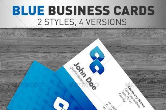14 Desain Kartu Nama Perusahaan - Desain-Kartu-Nama-Perusahaan-Blue-Business-Cards-4-VERSIONS