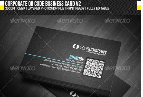 14 Desain Kartu Nama Perusahaan - Desain-Kartu-Nama-Perusahaan-Corporate-QR-Code-Business-Card-V2