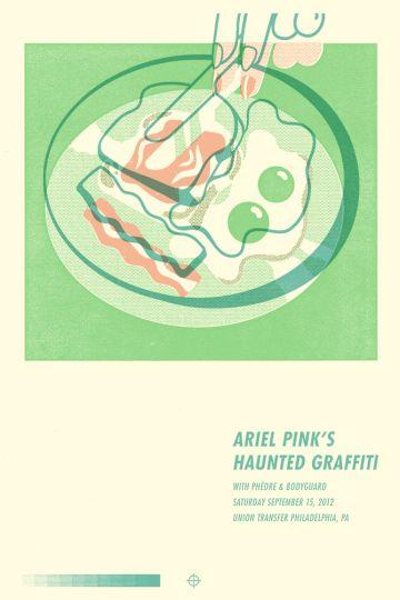 46 Contoh Poster Desain Inspiratif - Poster inspiratif bertema Ariel Pinks Haunted Graffiti