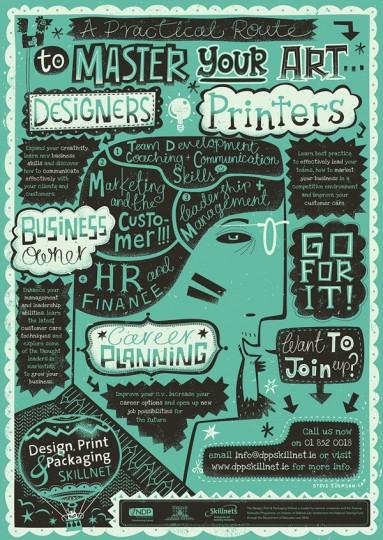 46 Contoh Poster Desain Inspiratif - Poster-inspiratif-tentang-Skillnet-Poster-oleh-Steve-Simpson