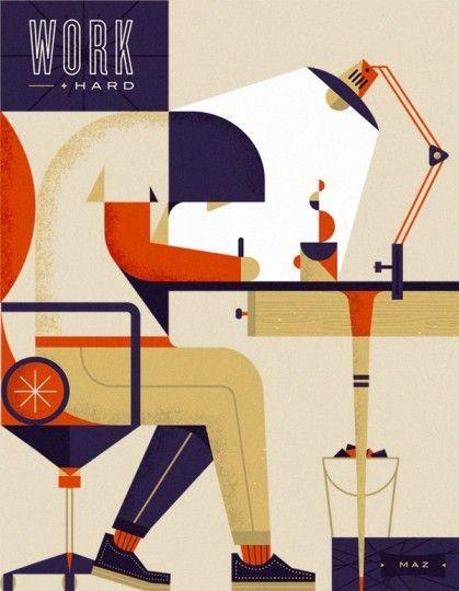 46 Contoh Poster Desain Inspiratif - Poster-inspiratif-tentang-kerja-keras-yang-didesain-oleh-Martin-Azambuja