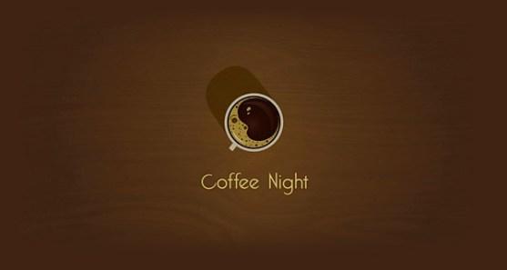 48 Contoh Logo dengan Simbol Tersembunyi - Coffee-Night-Logo