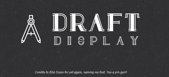 30 Koleksi Font Terbaik untuk Desain - Draft Display Free Font