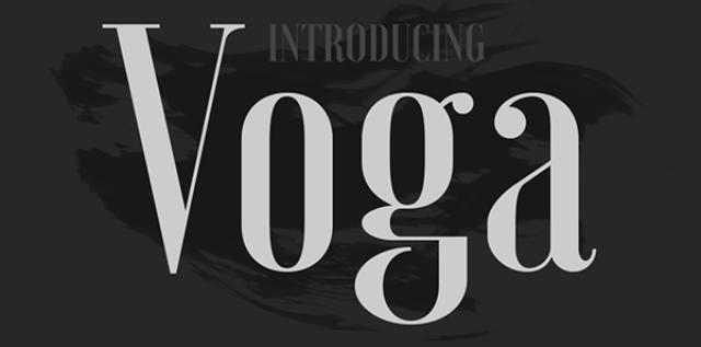 30 Koleksi Font Terbaik untuk Desain - Voga Typeface