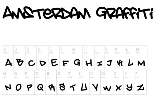 43 Font Graffiti Free Download - Amsterdam Graffiti Font