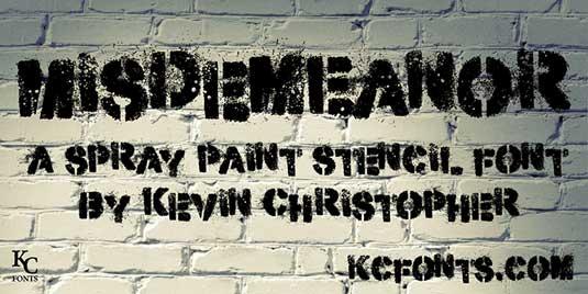 43 Font Graffiti Free Download - Misdemeanour Grafiti Font