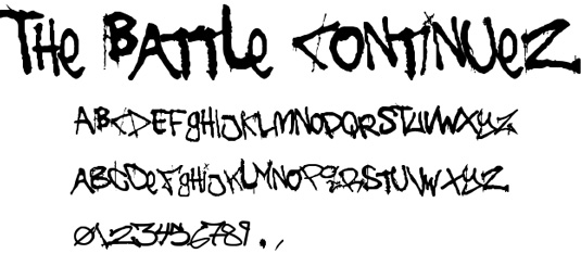 43 Font Graffiti Free Download - The Battle Continues Grafiti Font