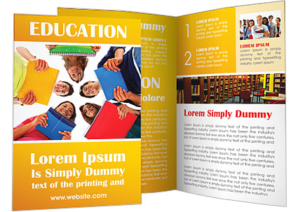 Contoh Brosur Sekolah Pendidikan Free Download Templates