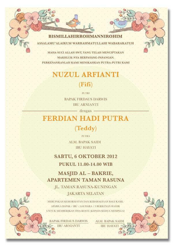 Contoh Konsep Undangan Pernikahan Indonesia Templates Free