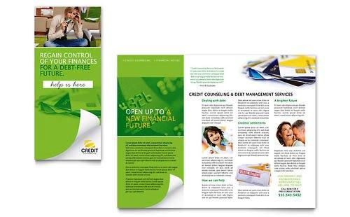 36 Contoh Desain Pamflet dan Brosur Jasa Keuangan - Brochure & Pamphlet Design-Konseling-Konsumen-Kredit