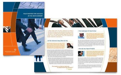 36 Contoh Desain Pamflet dan Brosur Jasa Keuangan - Brochure & Pamphlet Design-Layanan-Investasi