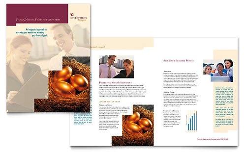 36 Contoh Desain Pamflet dan Brosur Jasa Keuangan - Brochure & Pamphlet Design-Perusahaan-Investasi