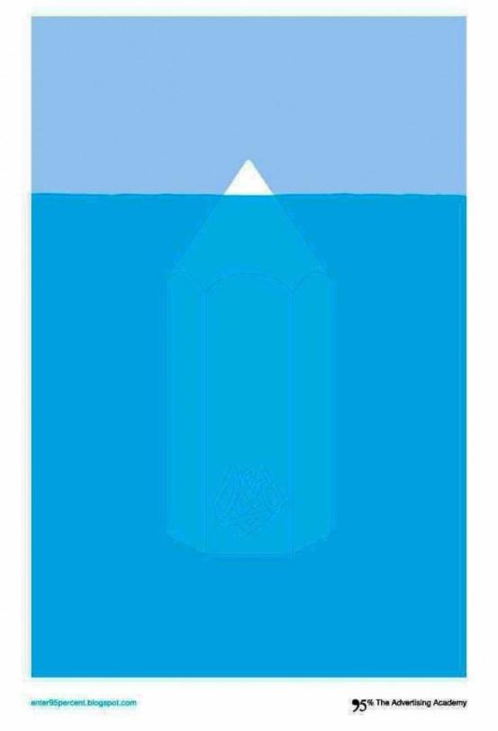Contoh format iklan advertising dengan desain minimalis