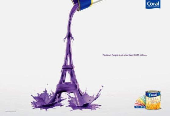 Contoh Format Iklan Advertising dengan Desain Minimalis - Contoh-08-Desain-Iklan-Minimalis-Coral-Decora-Paint-Eiffel-Tower