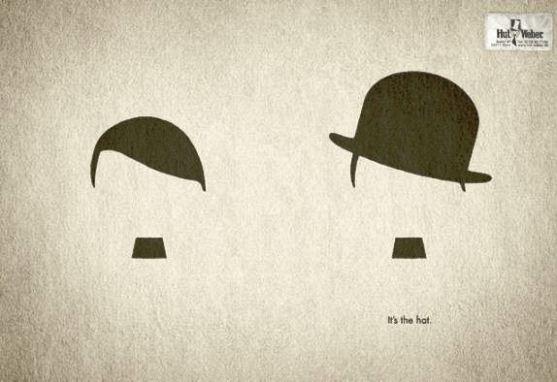 Contoh Format Iklan Advertising dengan Desain Minimalis - Contoh-12-Desain-Iklan-Minimalis-Hut-Weber-Hitler-vs.-Chaplin