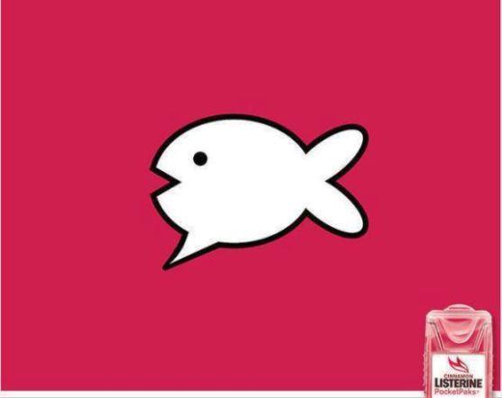 Contoh Format Iklan Advertising dengan Desain Minimalis - Contoh-18-Desain-Iklan-Minimalis-Listerine-Fish