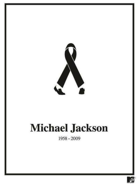 Contoh Format Iklan Advertising dengan Desain Minimalis - Contoh-22-Desain-Iklan-Minimalis-MTV-Networks-Black-Ribbon-Michael-Jackson