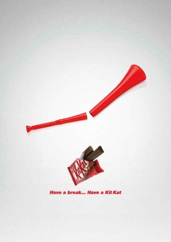 Contoh Format Iklan Advertising dengan Desain Minimalis - Contoh-25-Desain-Iklan-Minimalis-Nestlé-Kit-Kat-Vuvuzela