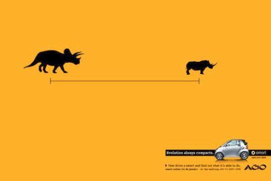 Contoh Format Iklan Advertising dengan Desain Minimalis - Contoh-29-Desain-Iklan-Minimalis-Smart-Center-Rio-de-Janeiro-Evolution-always-compacts-Triceratops
