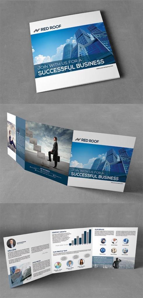 Contoh Desain Brosur Lipat Tiga - Contoh-Desain-Brosur-Lipat-3-terbaru-Square-Corporate-Trifold-Brochure