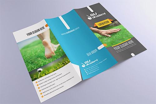 Su Akademi Catalog Cover Trifold Brochure